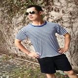 海军夏季男女通用海魂T恤体能服套装