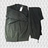 陆军军绿色绒衣套装