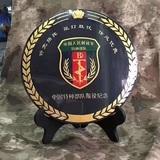 特种部队退役纪念活性碳雕