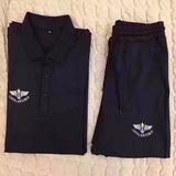 空军 翻领短袖体能服套装