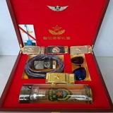 将军礼盒套装水晶杯、皮带、眼镜、木盒套装,