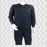 海军藏青色冬季绒衣裤