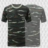 武警特战虎斑T恤